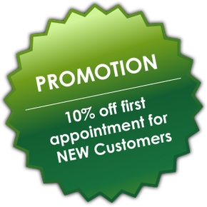 Promotion 10% off first appointment for NEW customers